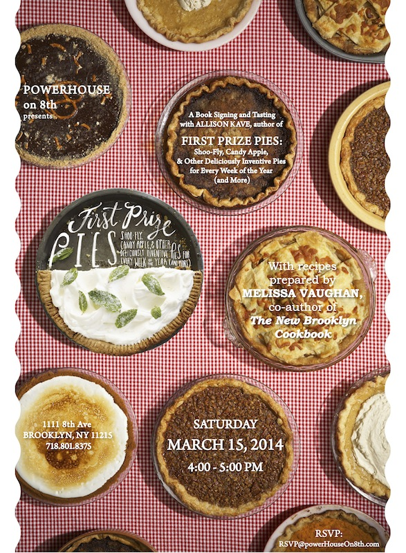Cookbook Tasting Series with Melissa Vaughan: First Prize Pies by Allison Kave