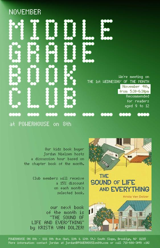 Middle Grade Book Club: The Sound of Life and Everything by Krista Van Dolzer