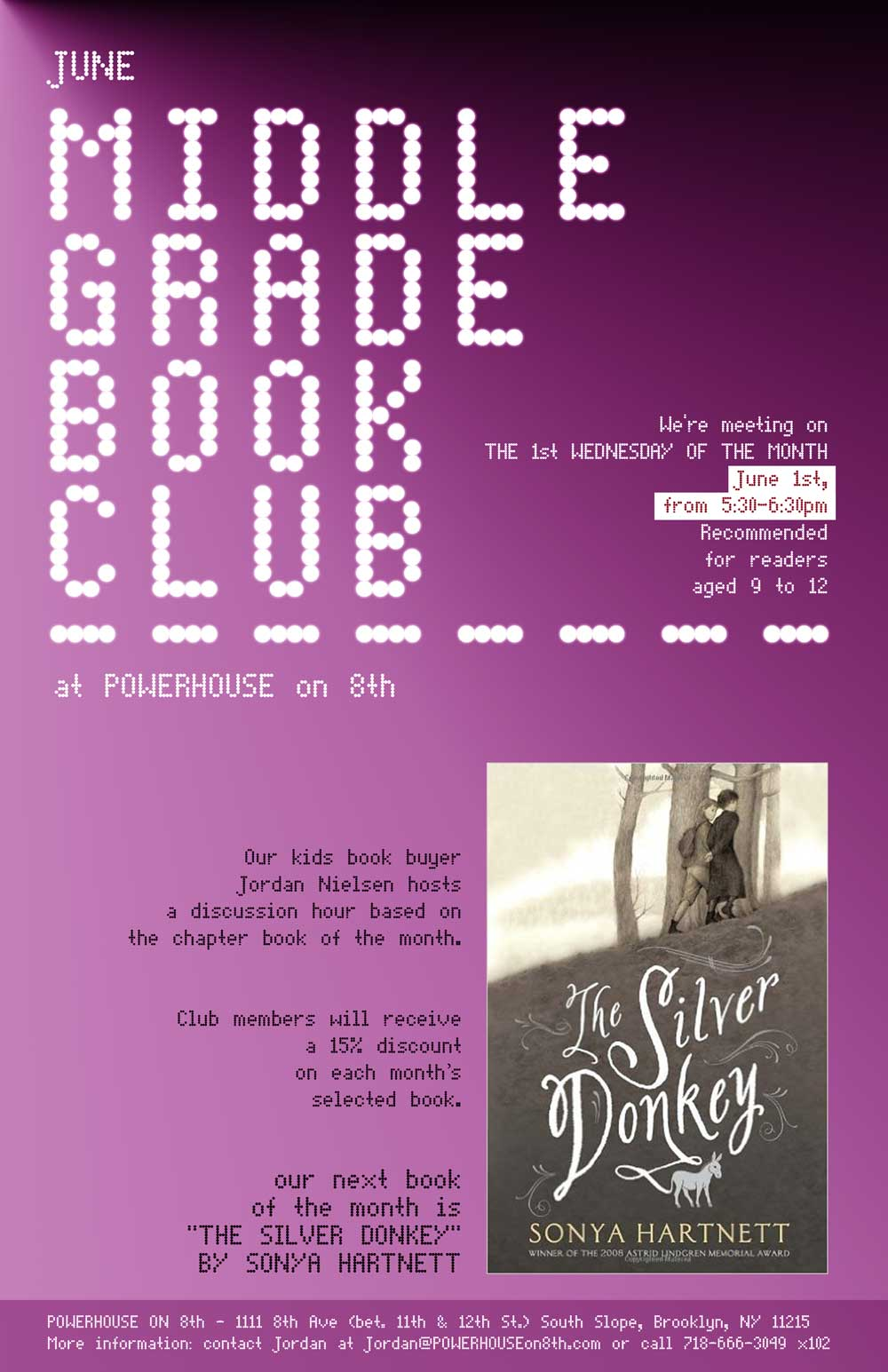 Middle Grade Book Club: The Silver Donkey by Sonya Hartnett