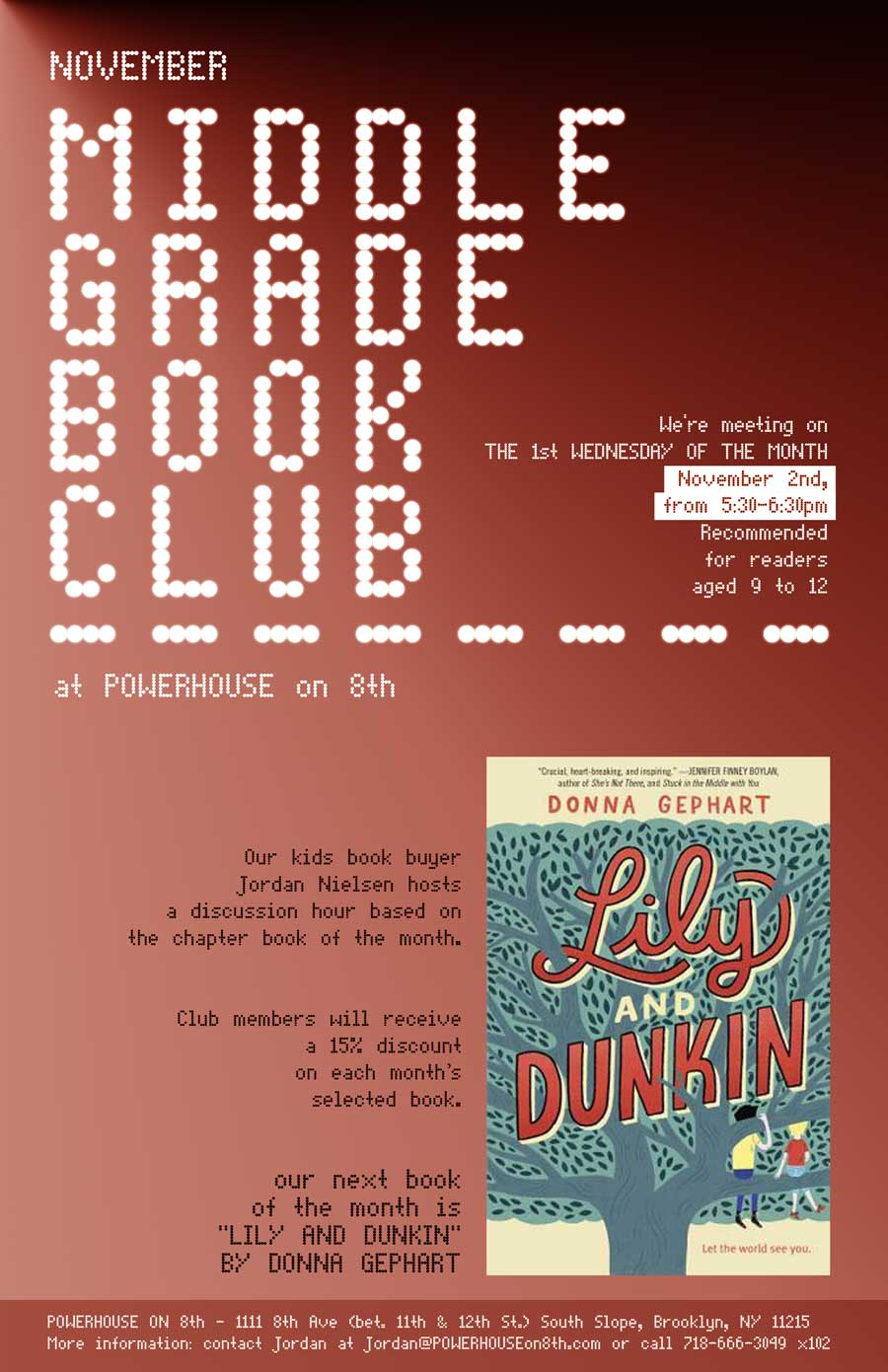 Middle Grade Book Club: Lily and Dunkin by Donna Gephart