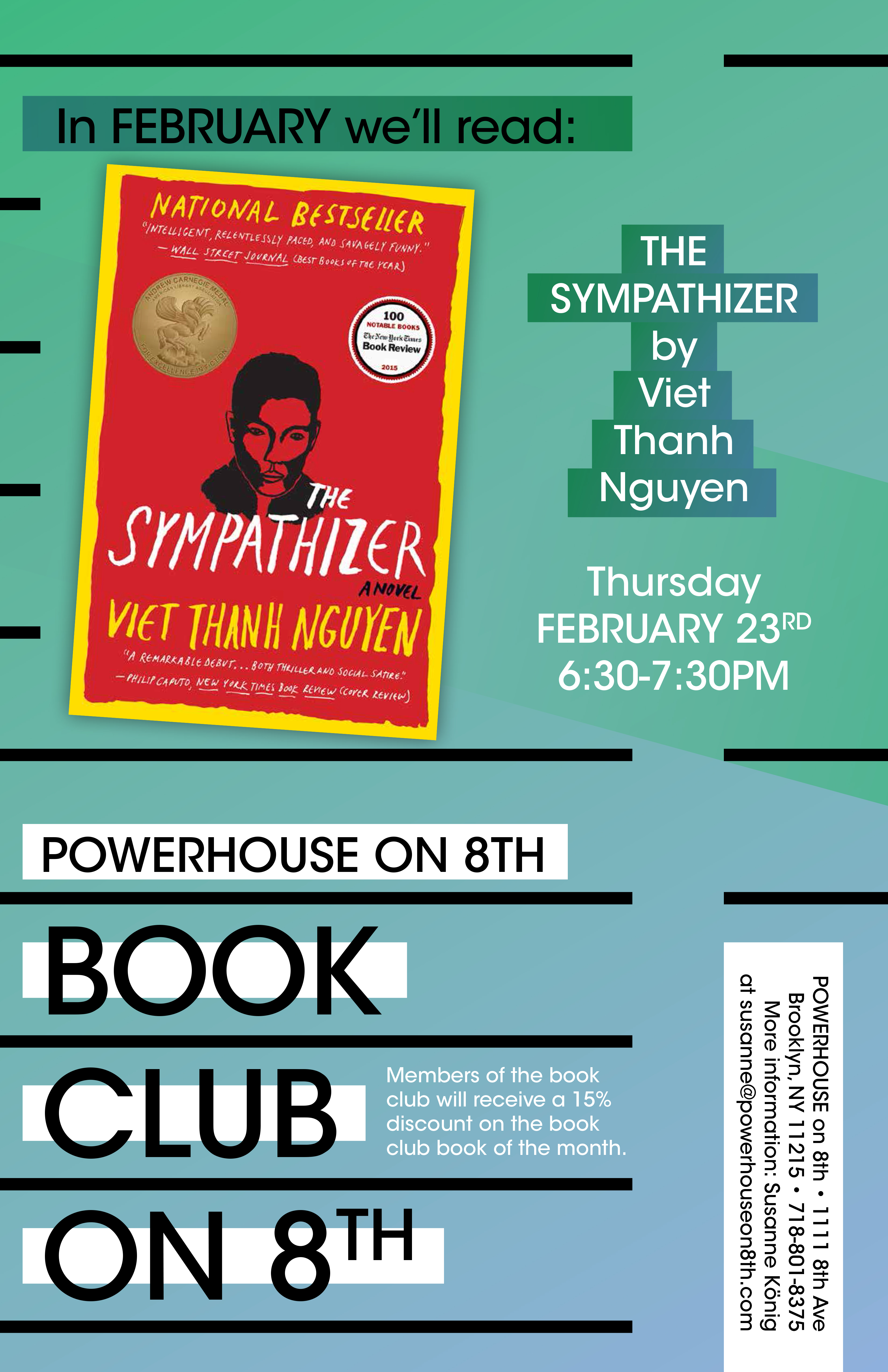 Book Club on 8th: The Sympathizer: A Novel by Viet Thanh Nguyen
