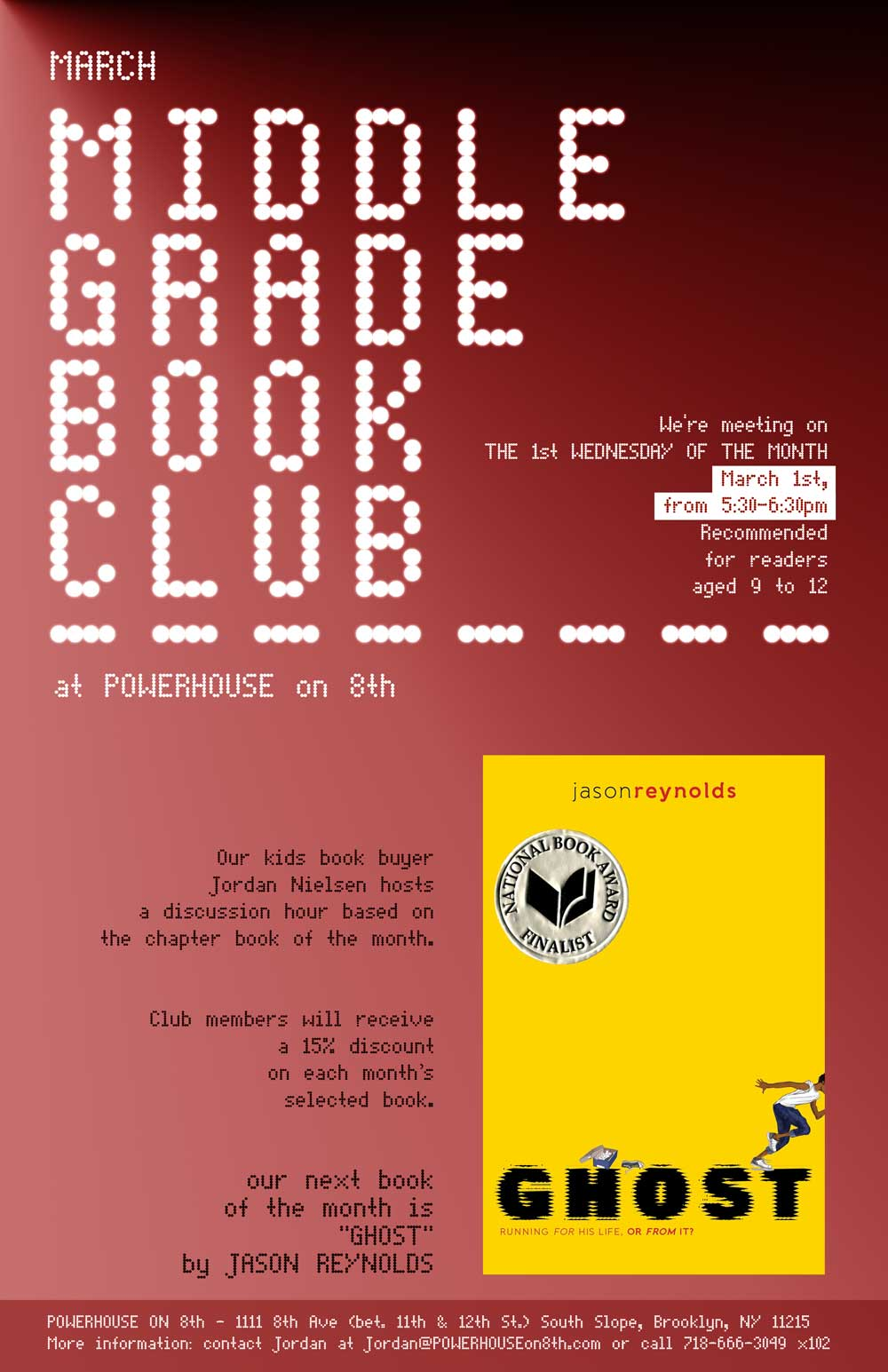 Middle Grade Book Club: Ghost by Jason Reynolds