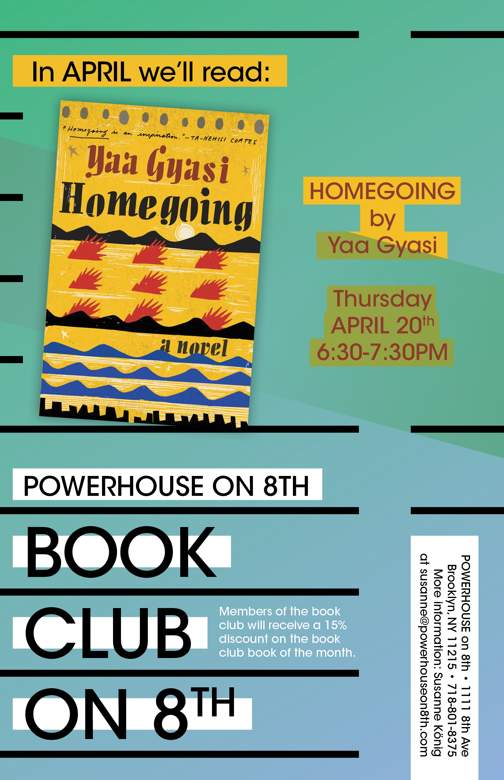 Book Club on 8th: Homegoing by Yaa Gyasi