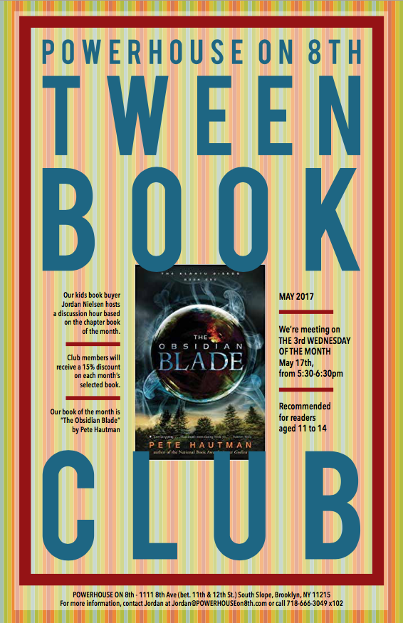 Tween Book Club: The Obsidian Blade by Pete Hautman