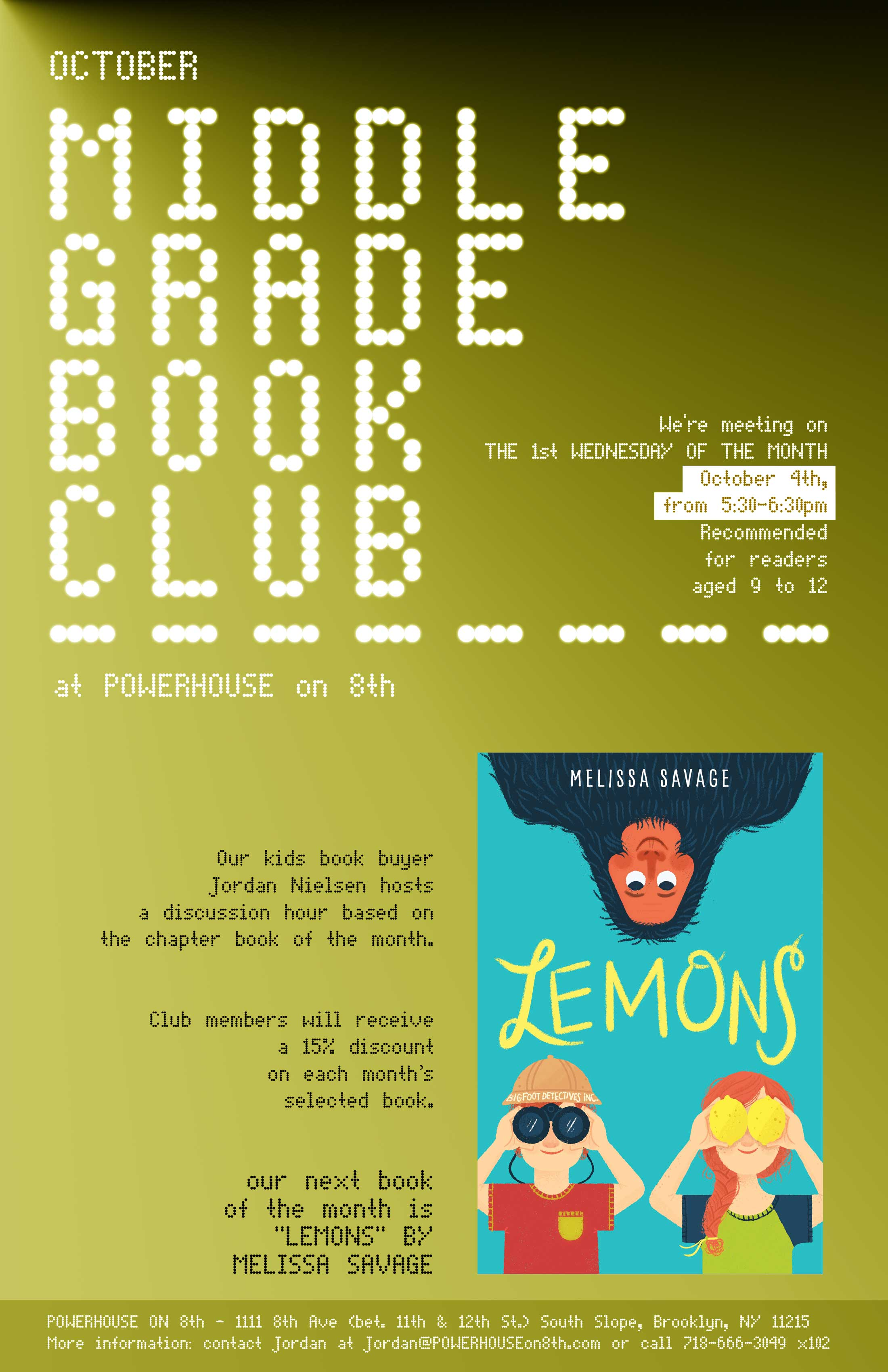 Middle Grade Book Club: Lemons by Melissa Savage