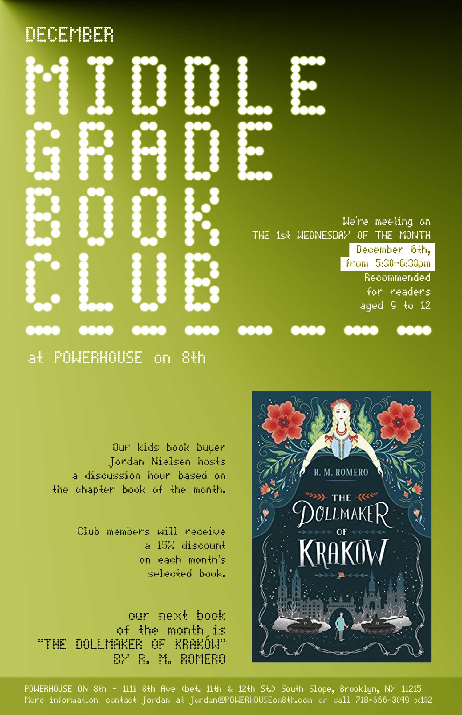 Middle Grade Book Club: The Dollmaker of Krakow by R. M. Romero