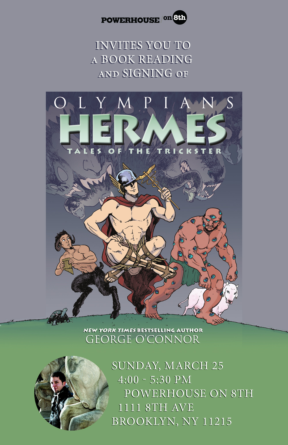 Book Reading Signing The Olympians HERMES By George OConnor