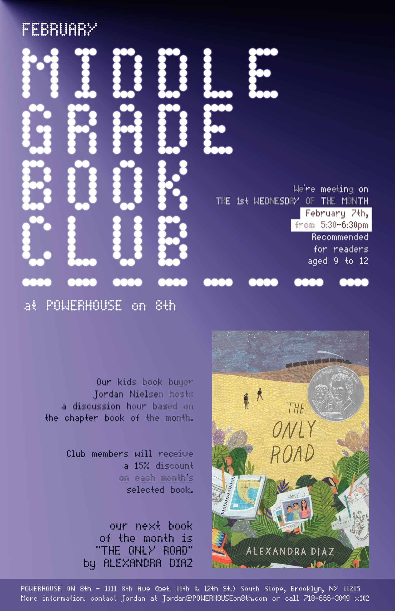 Middle Grade Book Club: The Only Road by Alexandra Diaz