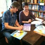 Lauren Thompson and Stephen Savage sign copies of, Polar Bear Morning.