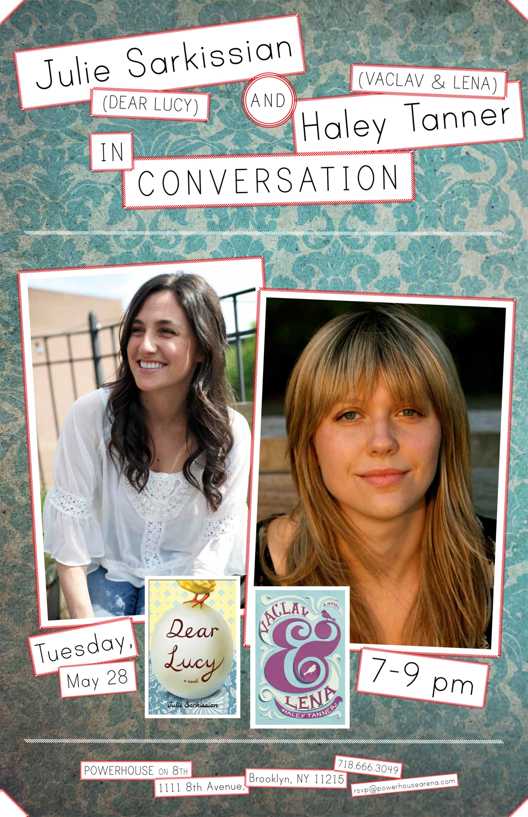 Julie Sarkissian (Dear Lucy) & Haley Tanner (Vaclav & Lena) in Conversation