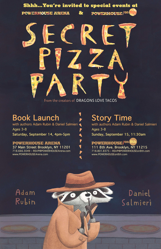 Story Time with Adam Rubin and Daniel Salmieri (authors of Secret Pizza Party)