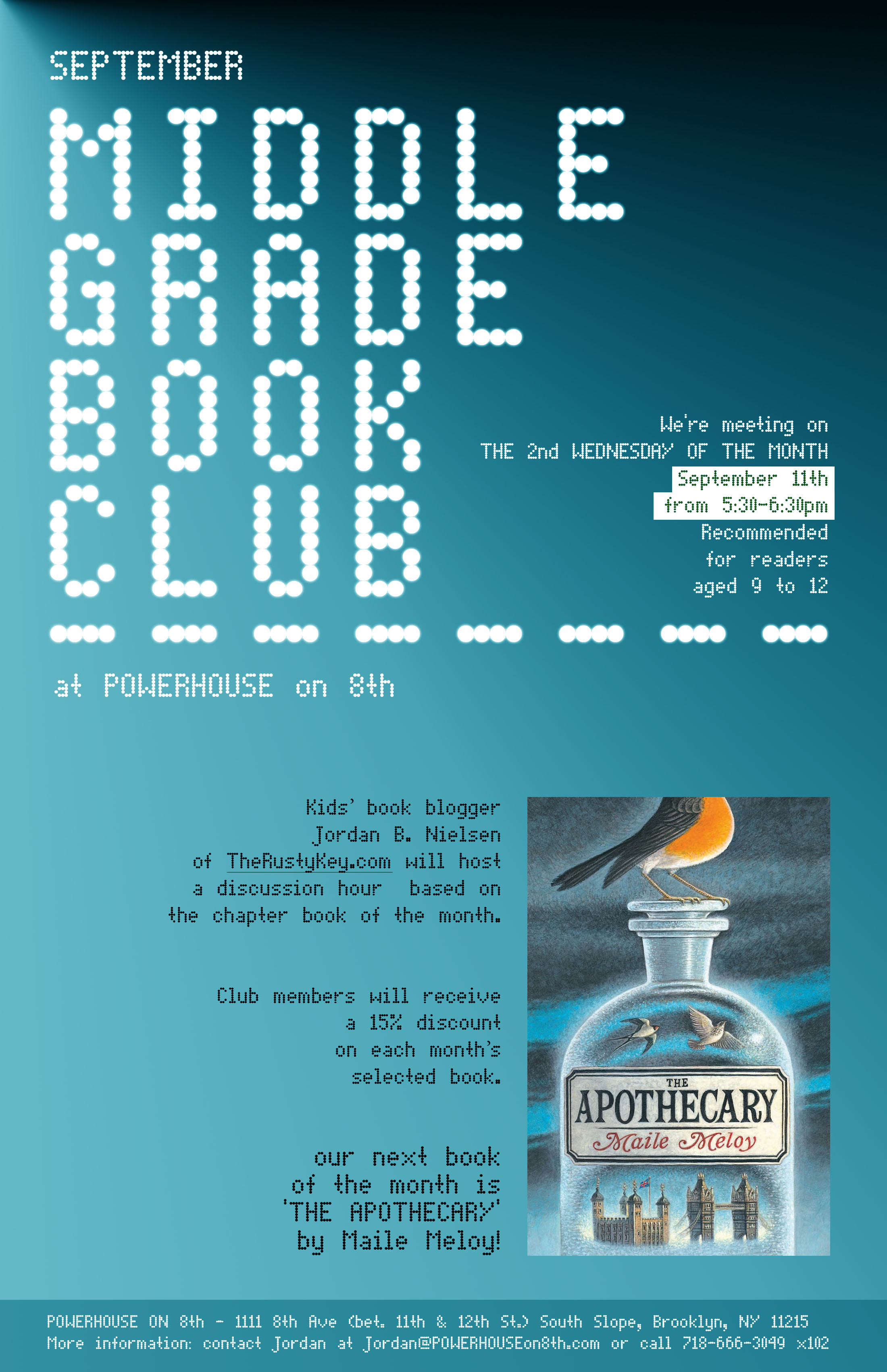 September Middle Grade Book Club: The Apothecary by Maile Maloy