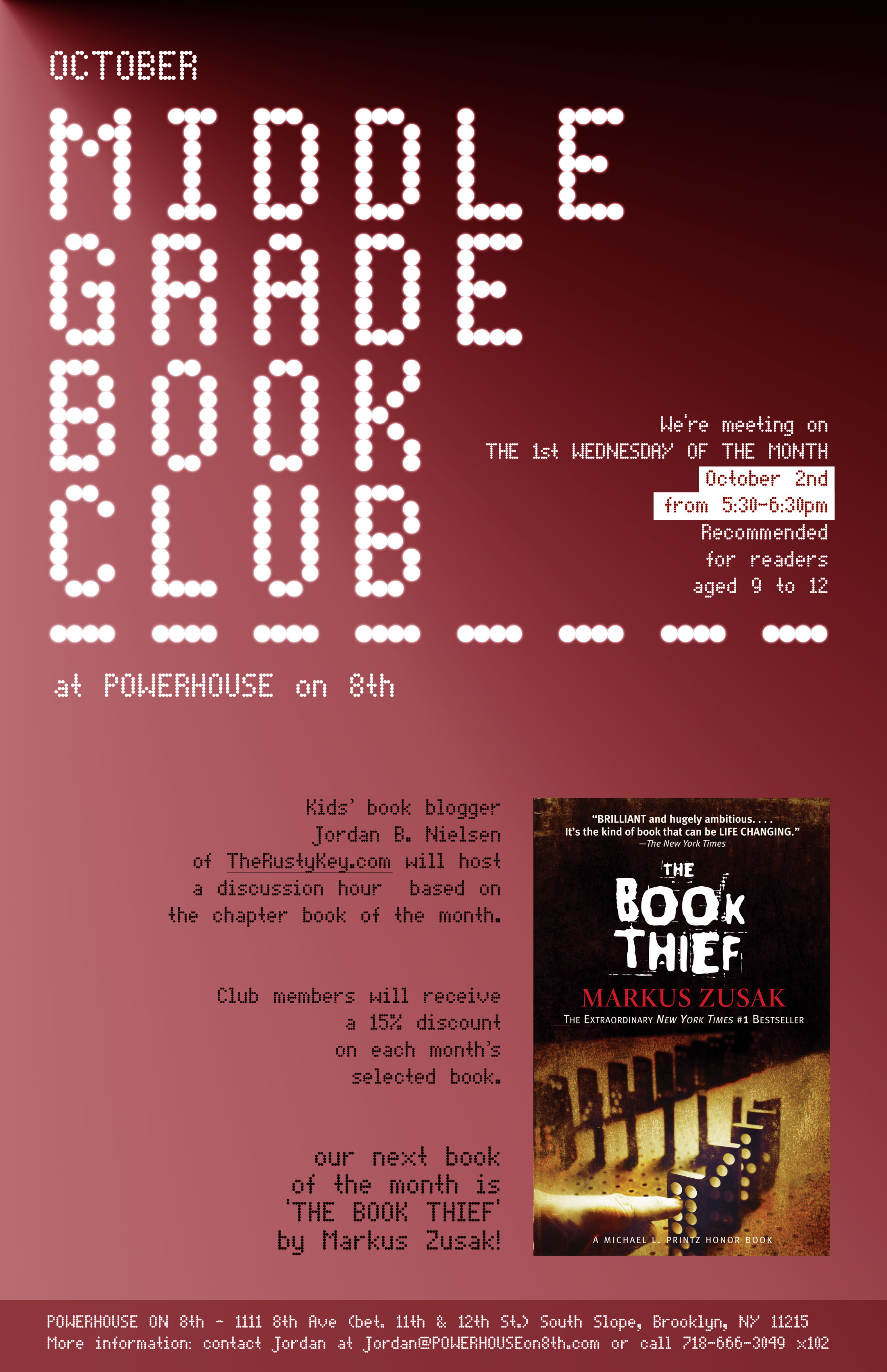 October Middle Grade Book Club: The Book Thief by Markus Zusak
