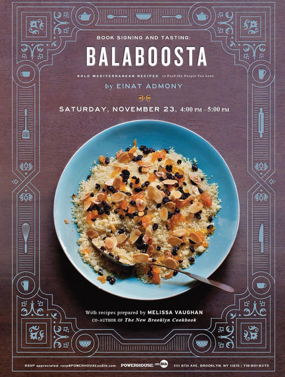 Cookbook Tasting Series with Melissa Vaughan: BALABOOSTA by Einat Admony