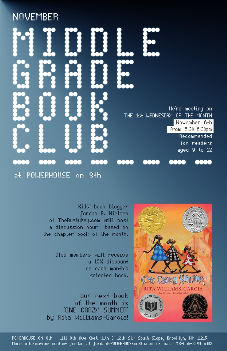 November Middle Grade Book Club: One Crazy Summer by Rita Williams-Garcia
