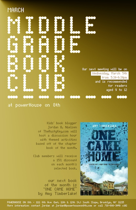 March Middle Grade Book Club: One Came Home by Amy Timberlake