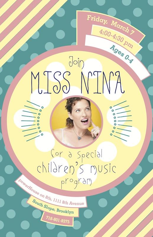 POSTPONED: Sing-Along with Miss Nina