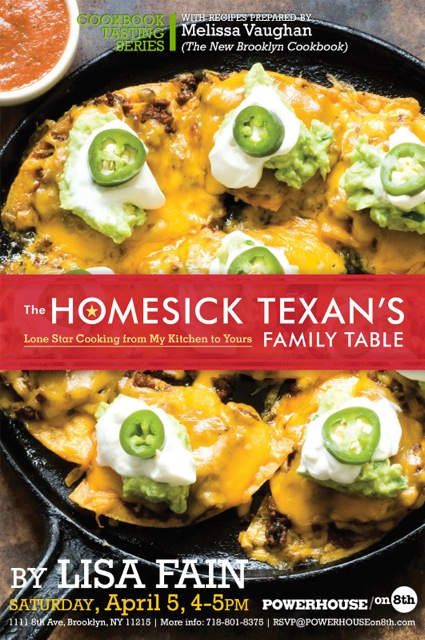 Cookbook Tasting Series with Melissa Vaughan: The Homesick Texan's Family Table by Lisa Fain