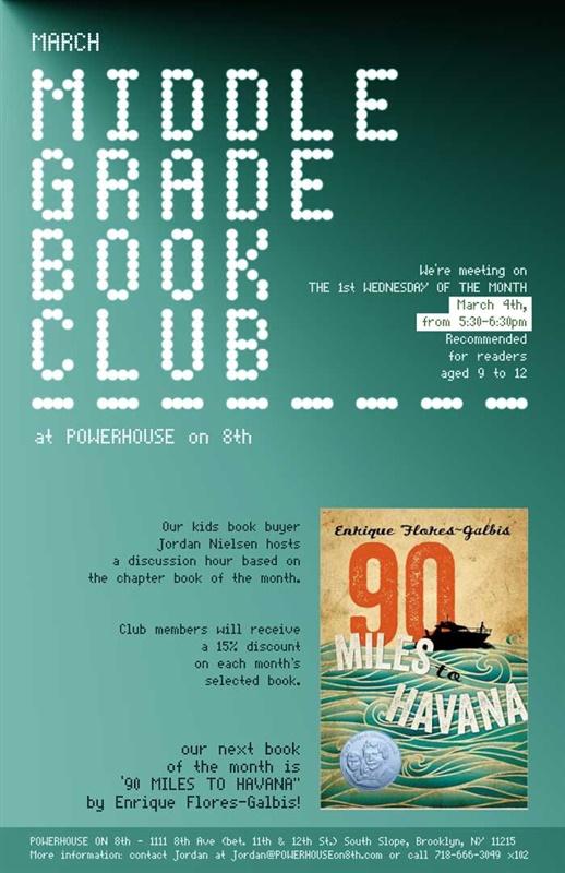 Middle Grade Book Club: 90 Miles to Havana by Enrique Flores-Galbis