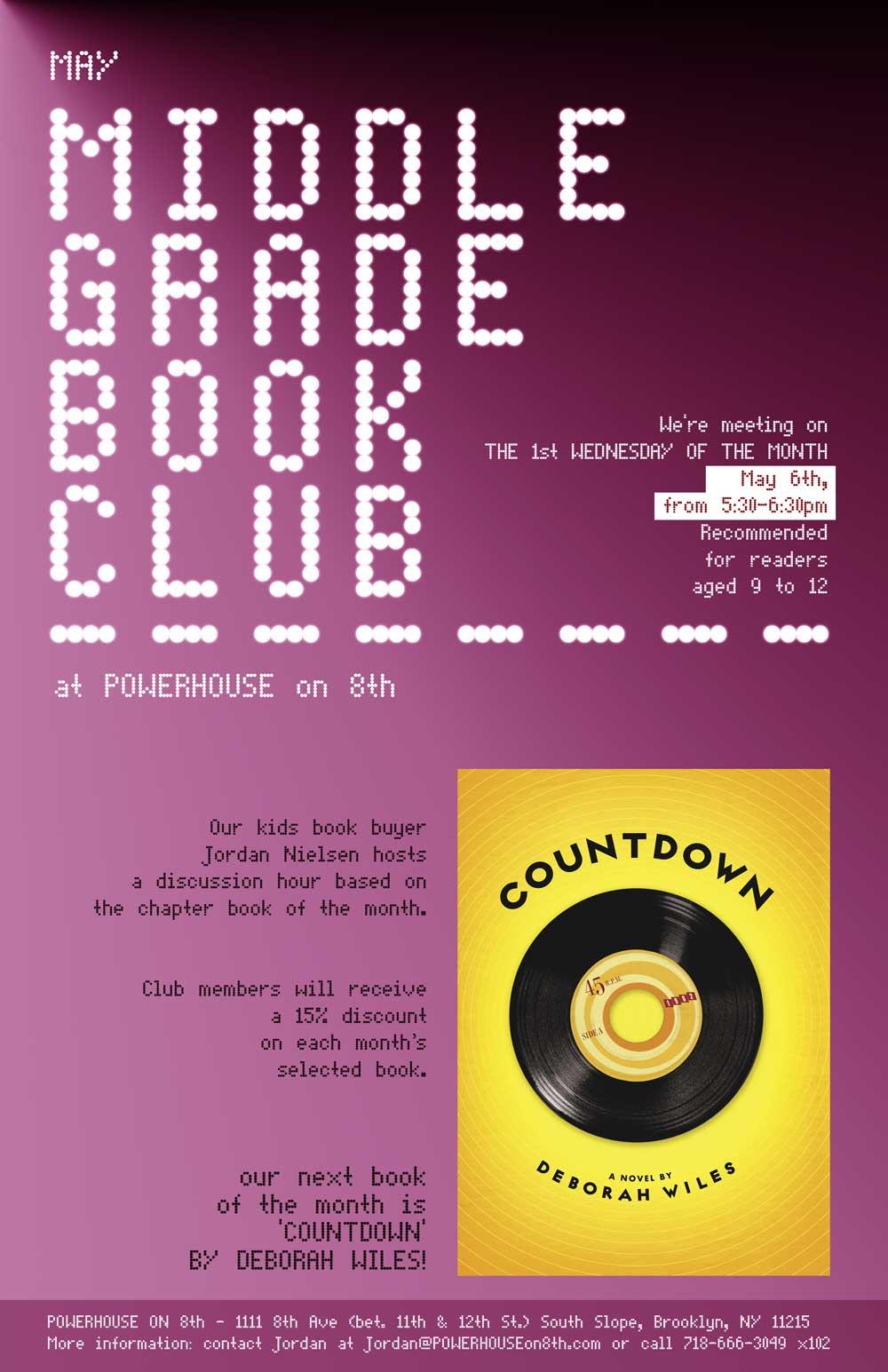 Middle Grade Book Club: Countdown by Deborah Wiles
