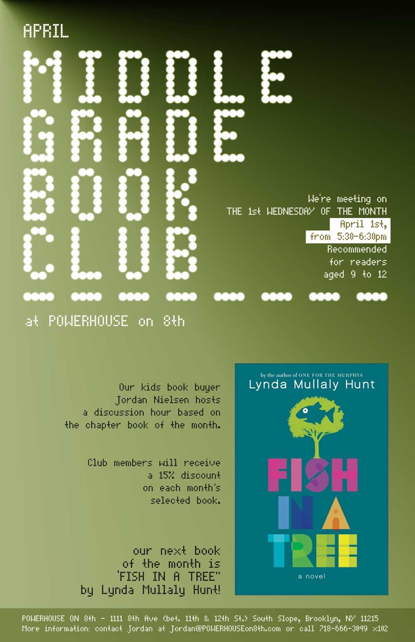 Middle Grade Book Club: Fish in a Tree by Lynda Mullaly Hunt