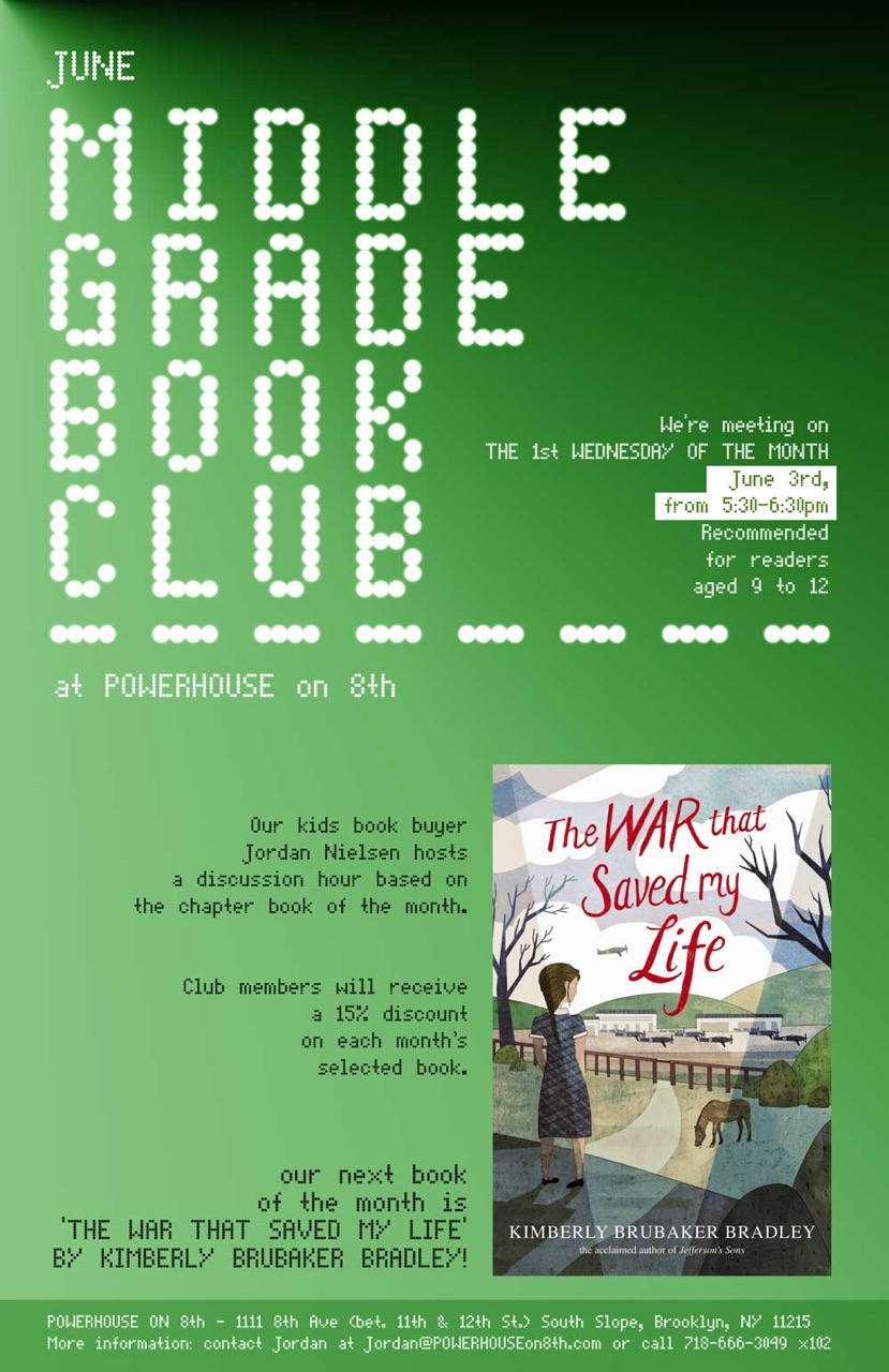 Middle Grade Book Club: The War that Saved My Life by Kimberly Brubaker Bradley