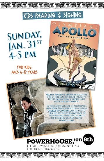Reading & Signing: Apollo: The Brilliant One by George O'Connor
