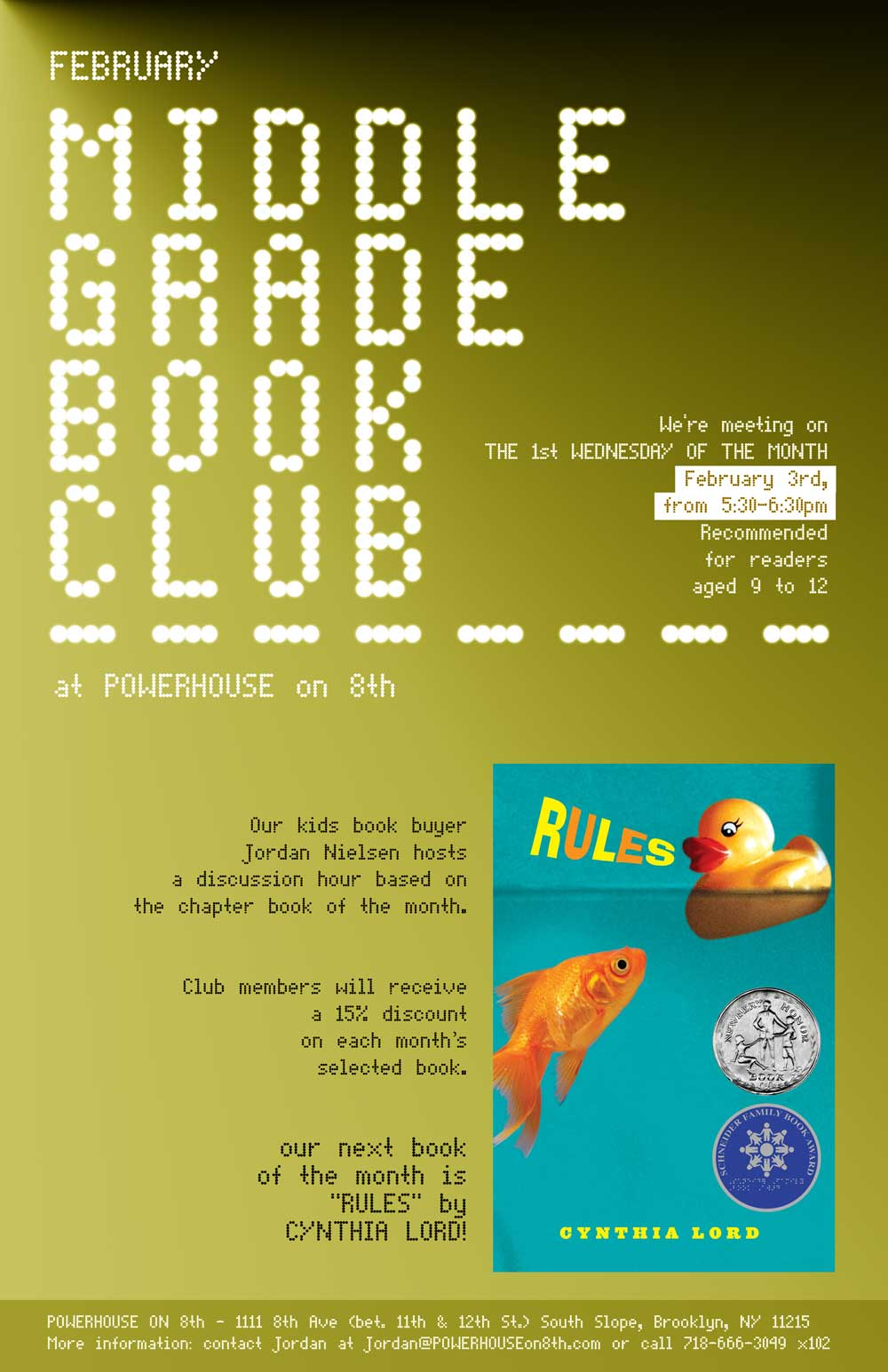 Middle Grade Book Club: Rules by Cynthia Lord