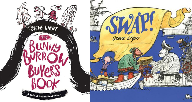 Sunday Story Time with Steve Light (author of Swap! and Bunny Burrow Buyer's Book)