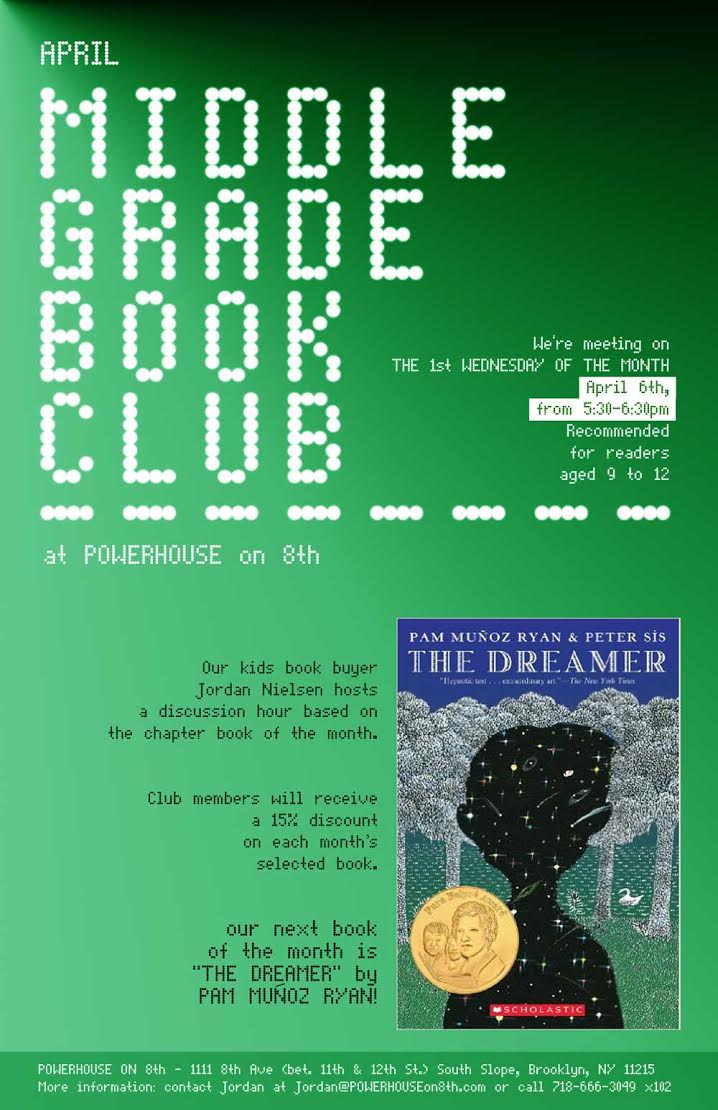 Middle Grade Book Club: The Dreamer by Pam Munoz Ryan