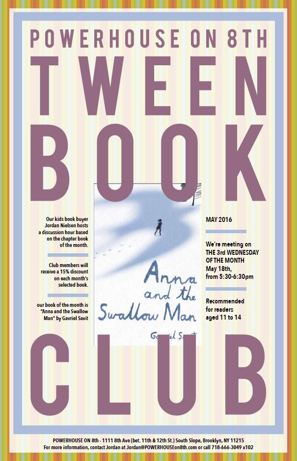 Tween Book Club: Anna and the Swallow Man by Gavriel Savit
