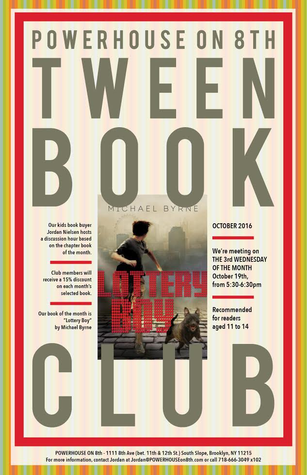 Tween Book Club: Lottery Boy by Michael Byrne