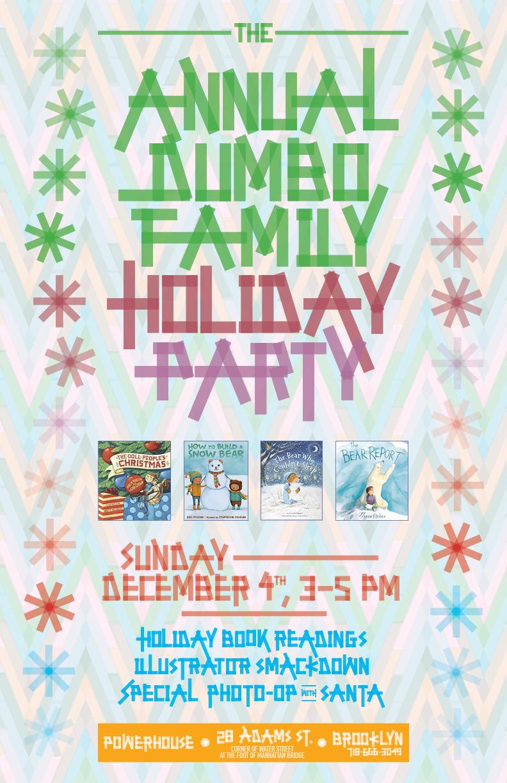 7th Annual Dumbo Holiday Party with Thyra Heder, Stephanie Graegin, Caroline Nastro, Ann M. Martin, Laura Godwin, and Brett Helquist