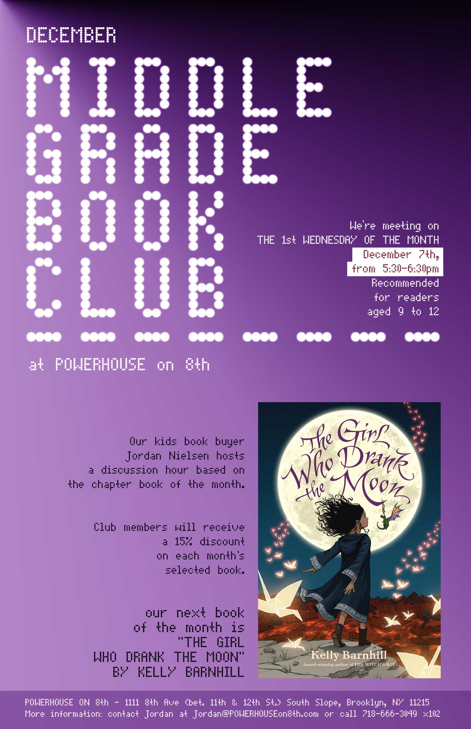 Middle Grade Book Club: The Girl Who Drank the Moon by Kelly Barnhill