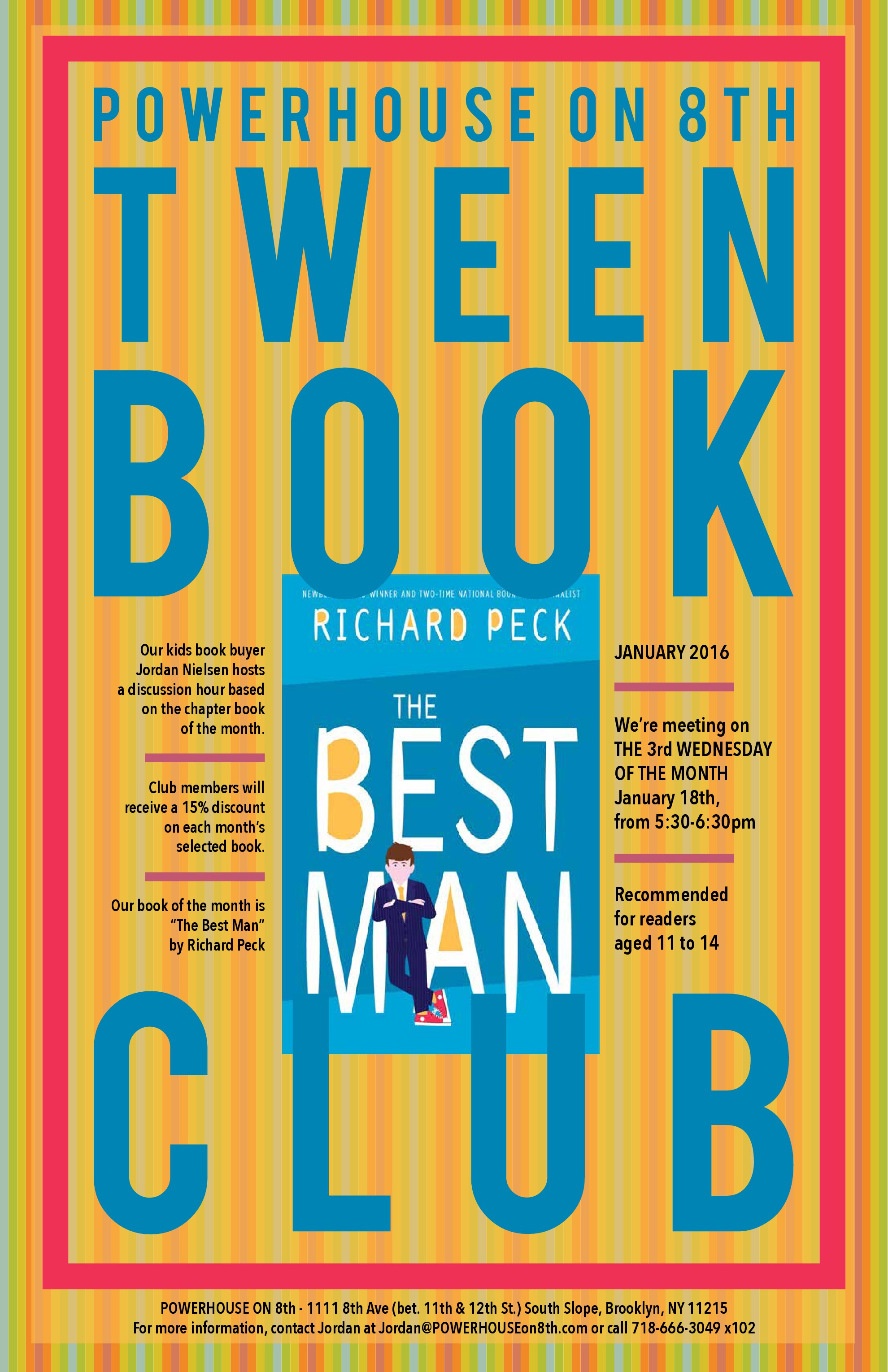 Tween Book Club: The Best Man by Richard Peck