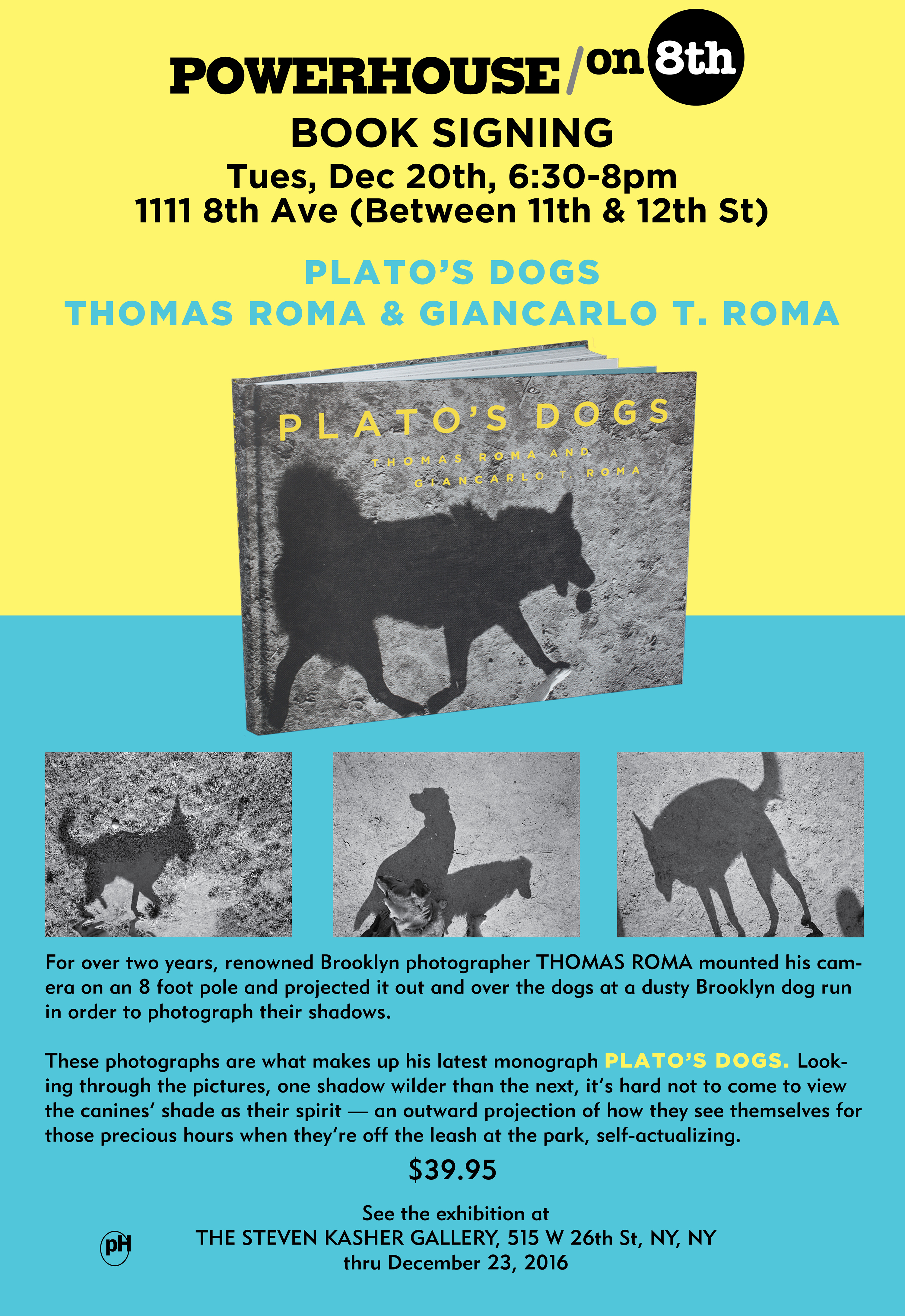 Book Signing: Plato's Dogs by Thomas Roma and Giancarlo Roma