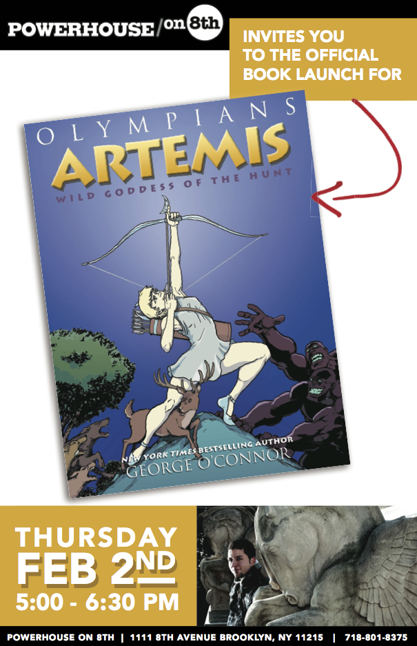 Book Launch: Artemis: Wild Goddess of the Hunt by George O'Connor