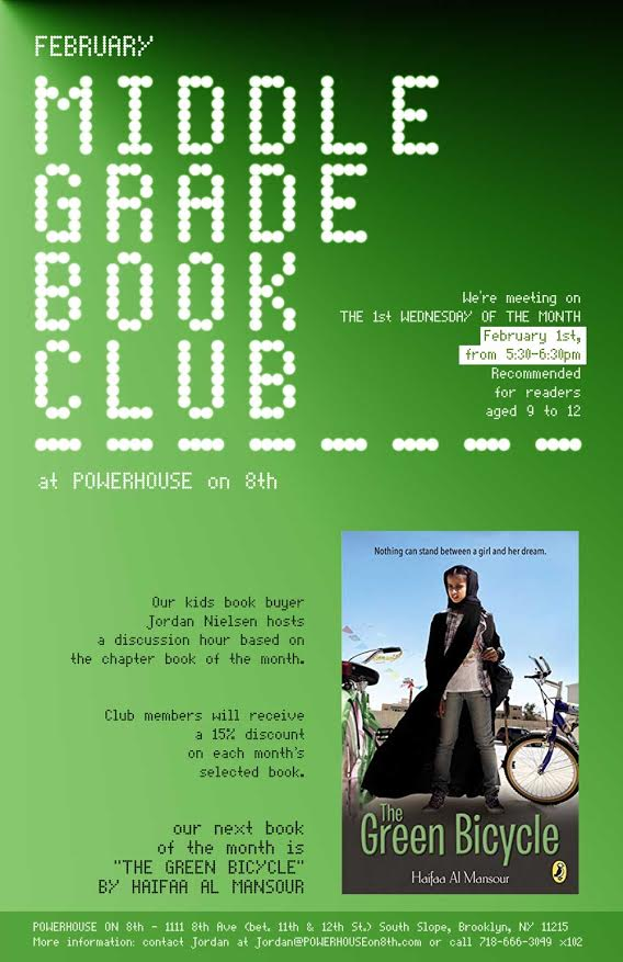Middle Grade Book Club: The Green Bicycle by Haifaa Al Mansour