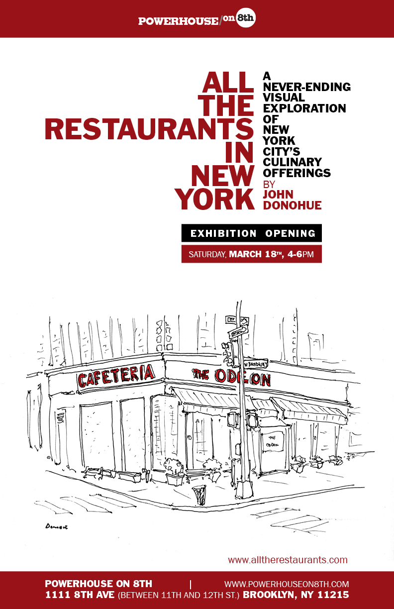ARTIST RECEPTION: All the Restaurants in New York: A Never-Ending Visual Exploration of New York City's Culinary Offerings by John Donohue