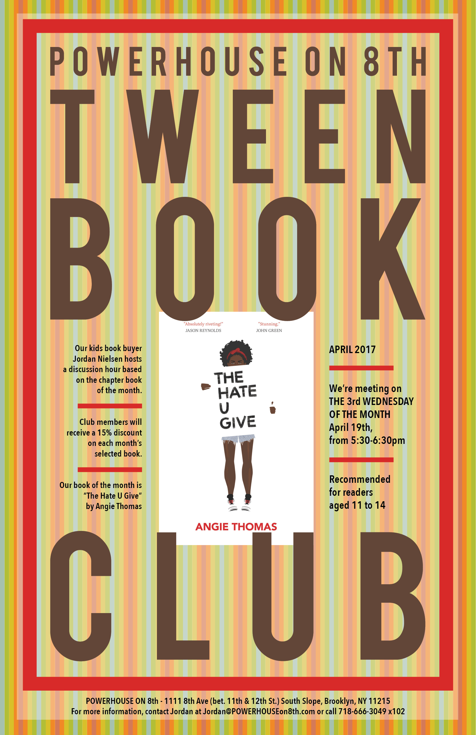 Tween Book Club: The Hate U Give by Angie Thomas