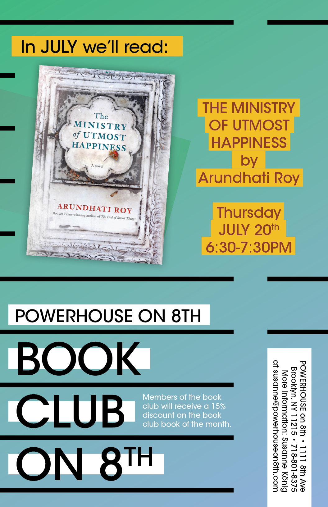 Book Club on 8th: The Ministry of Utmost Happiness by Arundhati Roy