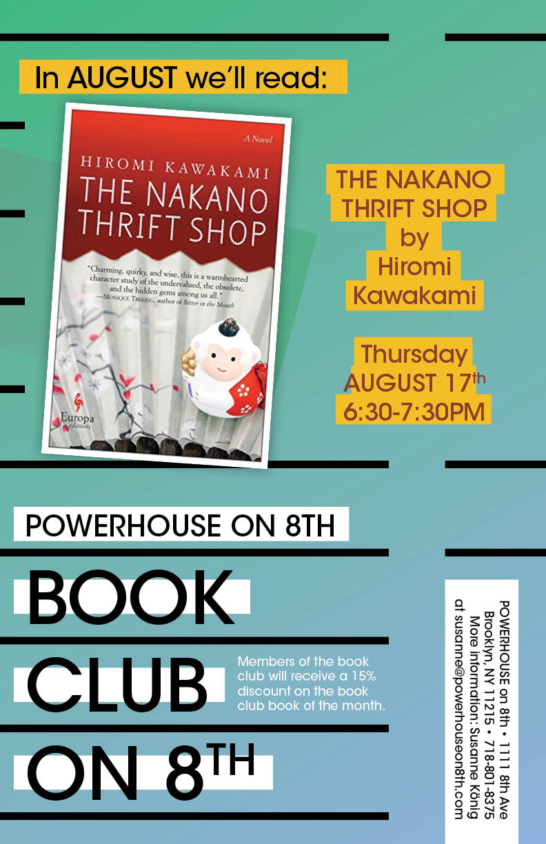Book Club on 8th: The Nakano Thrift Shop by Hiromi Kawakami