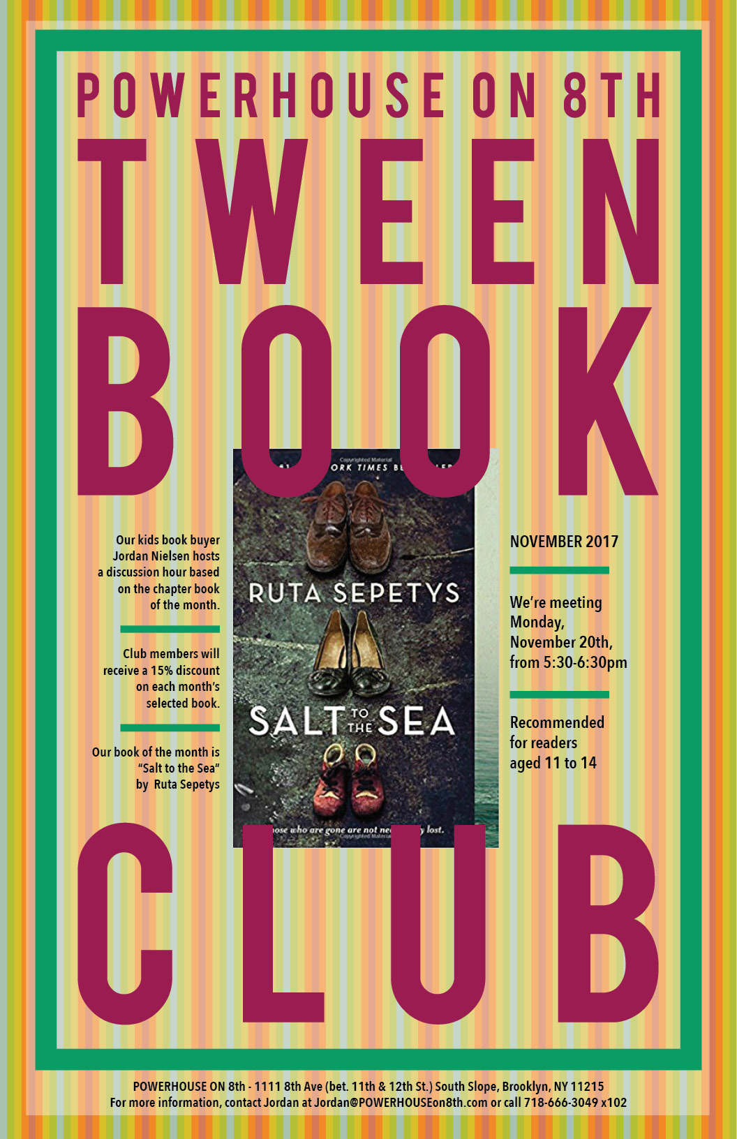 Tween Book Club: Salt to the Sea by Ruta Sepetys