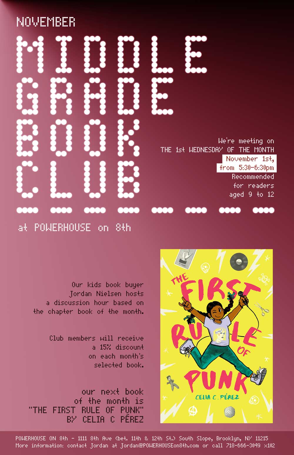 Middle Grade Book Club: The First Rule of Punk by Celia C. Perez