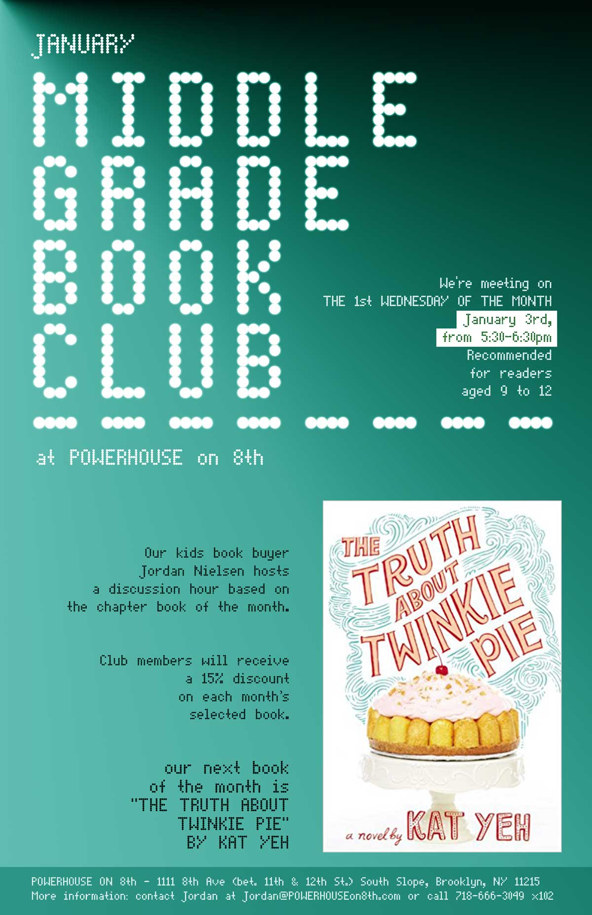 Middle Grade Book Club: The Truth About Twinkie Pie by Kat Yeh