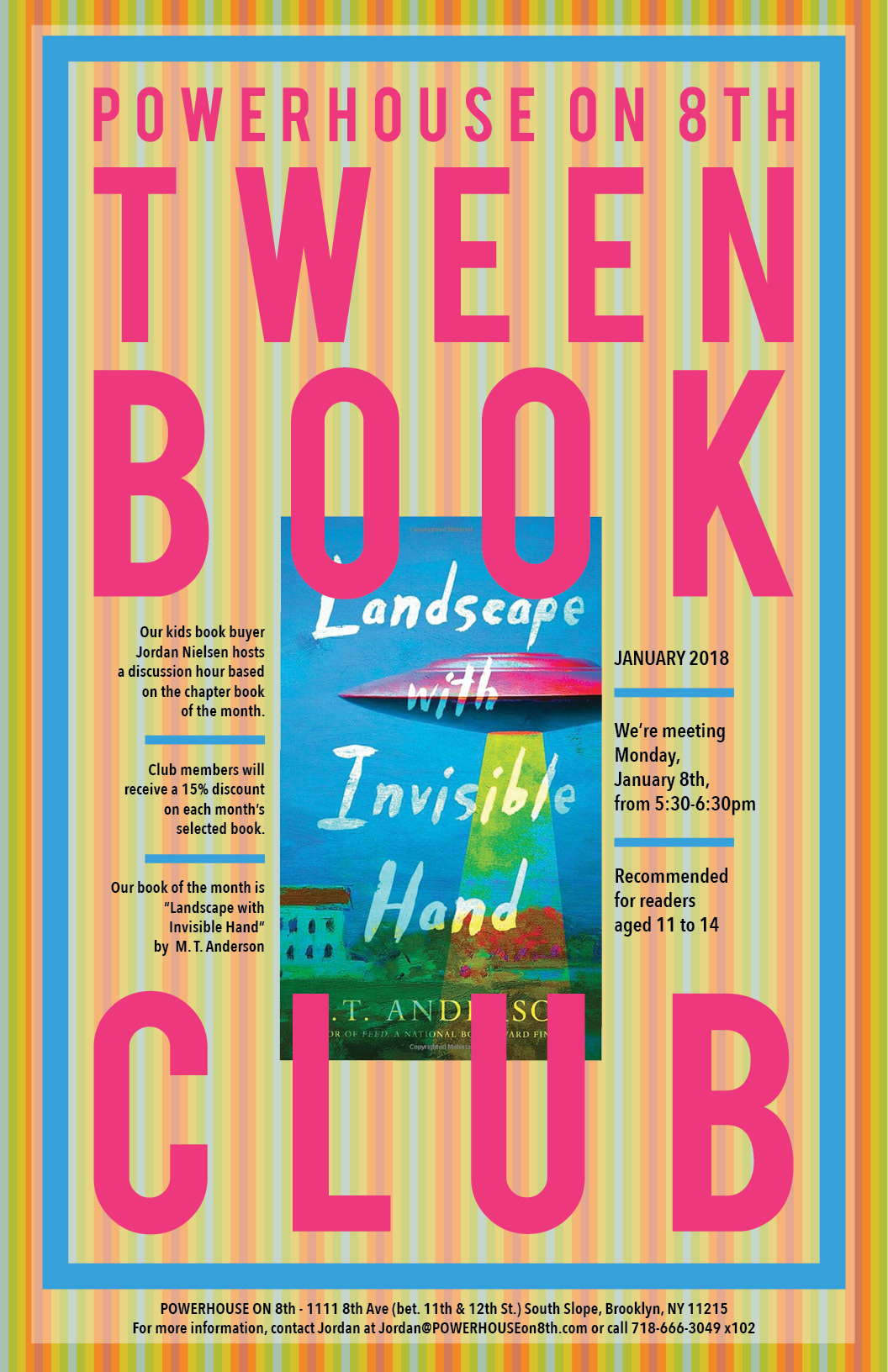 Tween Book Club: Landscape with Invisible Hand by M. T. Anderson